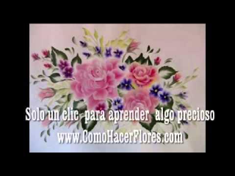 Plantillas para pintar flores ya no las necesitas con - Aprender a pintar en madera ...