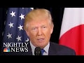 Photos Show NKorea Response Discussions Between Pres. Donald Trump, PM Abe, Staff | NBC Nightly News