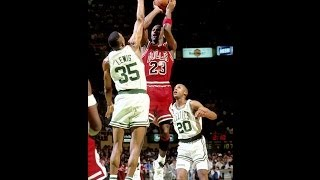 [Michael Jordan gets shot blocked 4 times by Reggie Lewis] Video