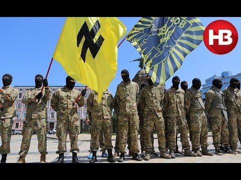 Проводы бойцов батальона Азов в зону АТО