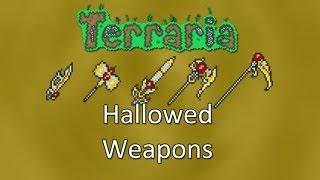 Terraria: Reborn Mod — Hallowed Weapons (Falchion, Warhammer, Pole Axe, Greatsword And Scythe)!