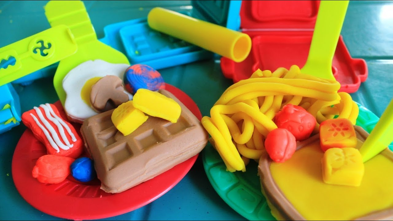Play Doh Breakfast Time Playset Kids Toys Youtube