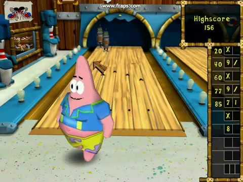 spongebob bowling game