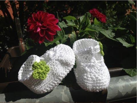 Escarpínes de bebe con correa en crochet - Instrucción zapatitos de BerlinCrochet - Parte2, Lados