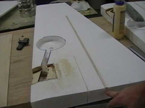 Sheeting a foam wing part 2