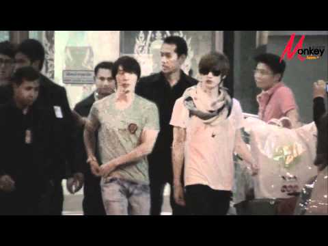 110116 Super Junior in Thailand @ Suvarnabhumi Airport By Monkey Junior