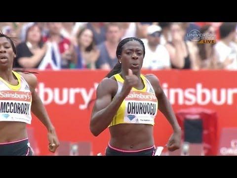 Ohuruogu over McCorory in 400m - London Diamond League 2013