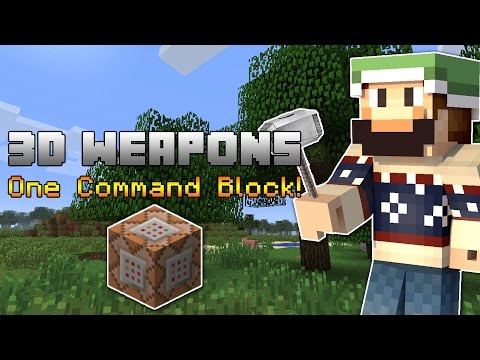 Minecraft: Epic 3D Weapons - One Command Block! (1.9 Snapshot)