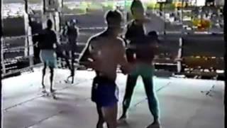 Ramon Dekkers Training In An Empty Lumpini Statium In