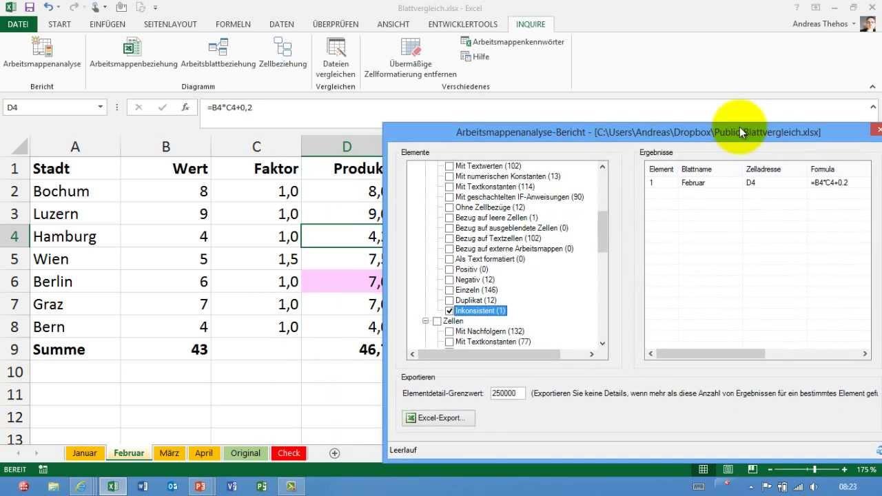 Excel Tabellenblätter Aktivieren : Excel tabellenblätter vergleichen nur formeln