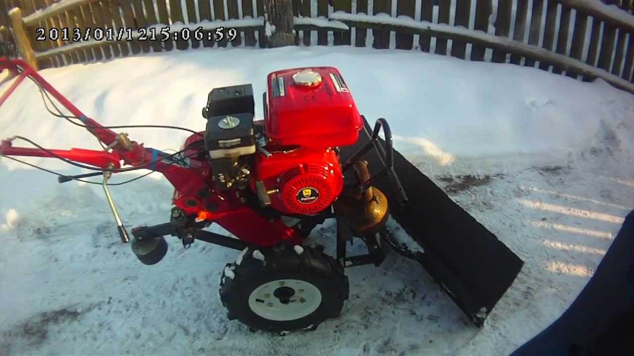 Приспособление для уборки снега на мотоблок