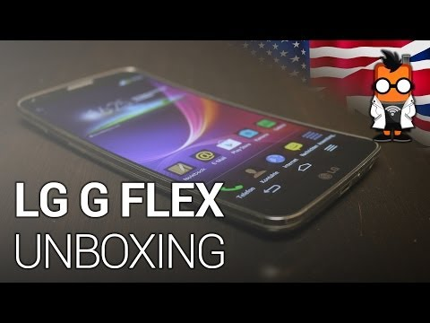 LG G Flex smartphone with curved OLED screen - unboxing & hands on [ENG]