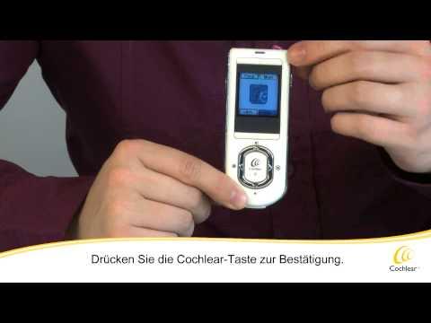 Cochlear Nucleus System - Erste Schritte mit Ihrer Fernbedienung CR110