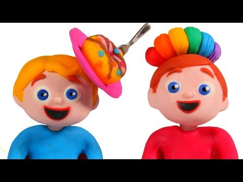 FUNNY KIDS NEW HAIRSTYLES ❤ Play Doh Cartoons For Kids