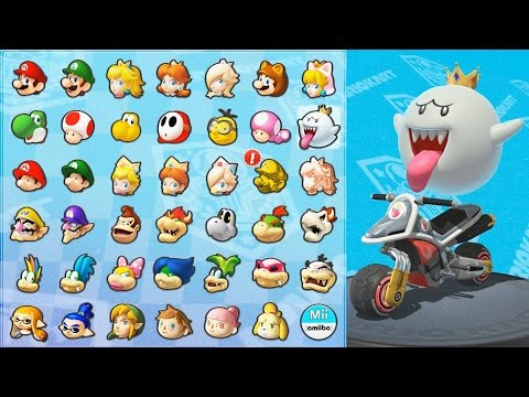 Mario Kart 8 Deluxe - All Characters & Amiibo Suits