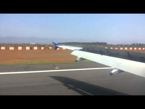 INDIGO AIRLINES LANDING AT COIMBATORE AIRPORT