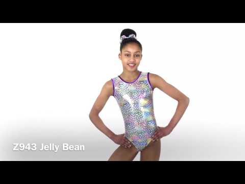 Jelly Bean Print Sleeveless Leotard