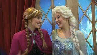 "Anna And Elsa ""Frozen"" Meet-and-greet In Norway At Epcot"