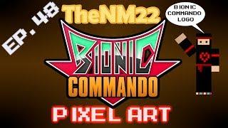 Bionic Commando Logo in Minecraft - TheNM22 Pixel Art