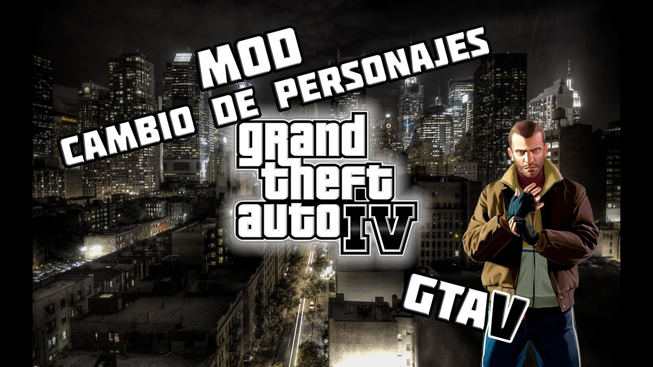 Mod gta iv cambio de personaje como gta v youtube for Cuarto personaje gta 5