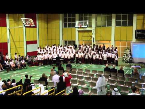 Qatar Academy Grade 5 Graduation Ceremony / Grade 5 Choir performing