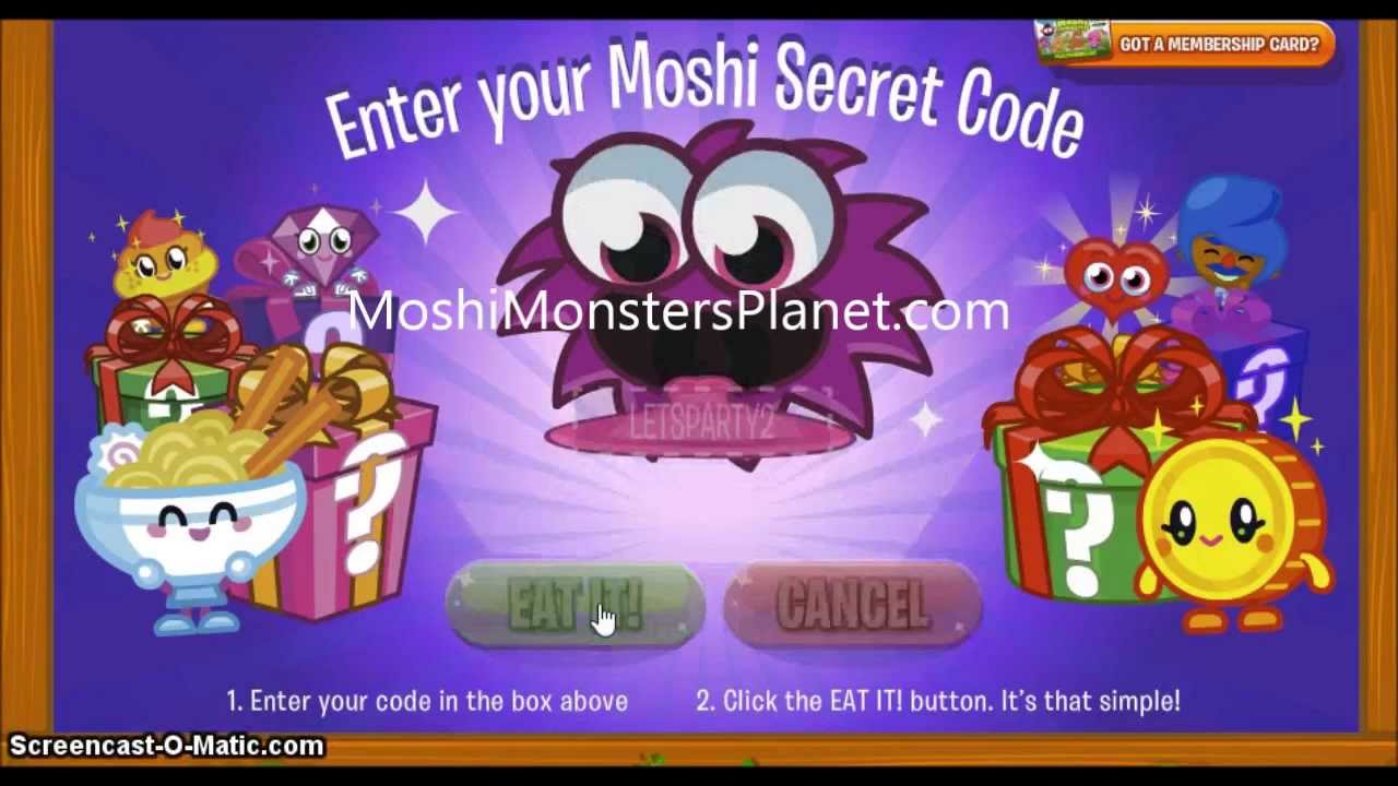 Moshi Monsters is a British website aimed at children aged , with over 80 million registered users in territories worldwide. Users choose from one of six virtual pet monsters (Diavlo, Luvli, Katsuma, Poppet, Furi and Zommer) they can create, name and nurture.
