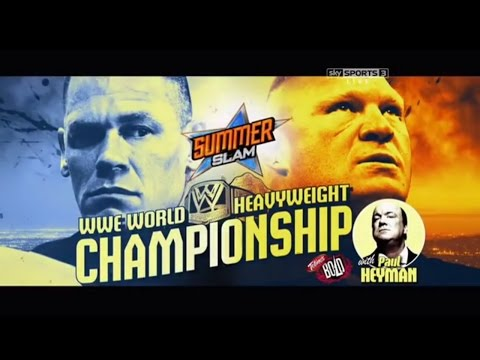 WWE Summerslam 2014 - Brock Lesnar Vs Johncena (WWE World Heavyweight Championship) Full Match HD