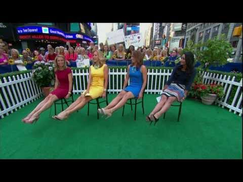 Amy Robach Lara Spencer Ginger Zee - showing off sexy legs & stiletto high heels