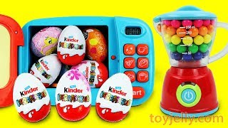 KINDER joy Chocolate Surprise Egg Magical Microwave & Blender Toys for Children Baby Finger Song