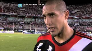 """Maidana: """"Nos viene costando un poco"""". River 1 - Olimpo 1. Fecha 16. Primera División 2014. FPT"""
