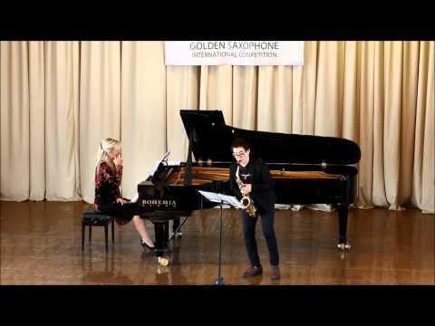 Golden Saxophone 2015 – Zu Lingrui – Ingolf Dahl , Concerto