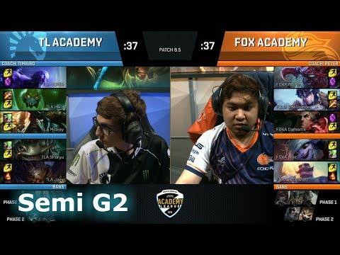 Echo Fox Academy vs Cloud 9 Academy | Game 2 Semi Finals NA Academy League Spring 2018 | FOXA vs TLA