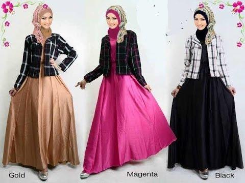 Busana muslim terbaru untuk wanita, baju kurung moden, gamis pesta