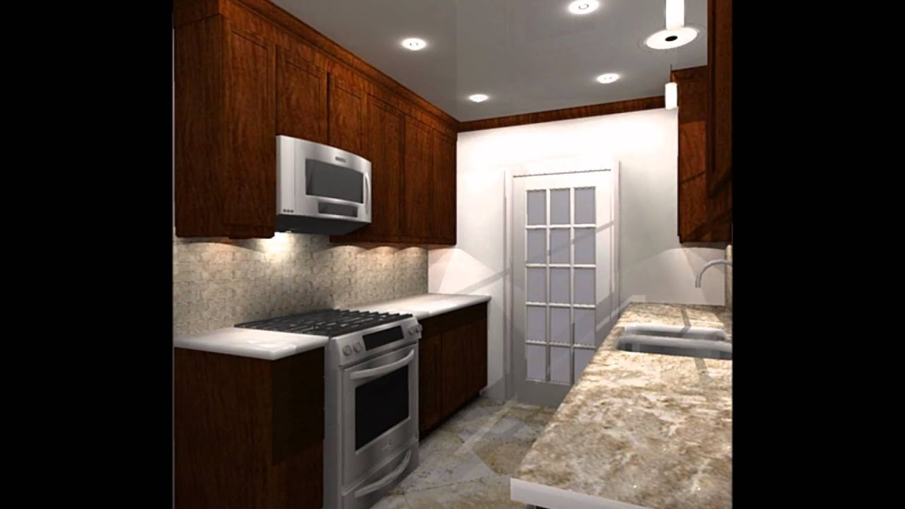 Overhaul a galley kitchen youtube for Galley kitchen designs 2012