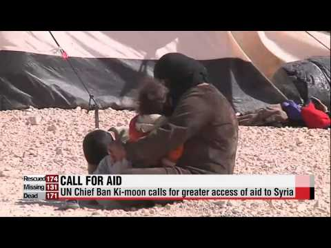 UN Chief Ban Ki-moon calls for more support for Syrian refugees