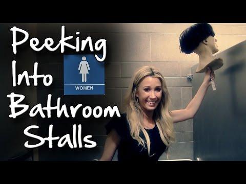 Ѕиркање над вратите во женско WC – скриена камера