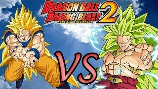 Dragon Ball Z Raging Blast 2 Goku Ssj3 VS Broly,Freeza