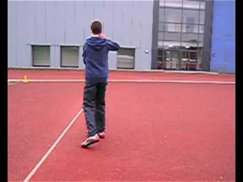 Rotational shot put drills set 3 drill 2 - turn to centre