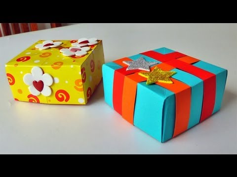 Cajita como para regalo - Manualidades para regalar