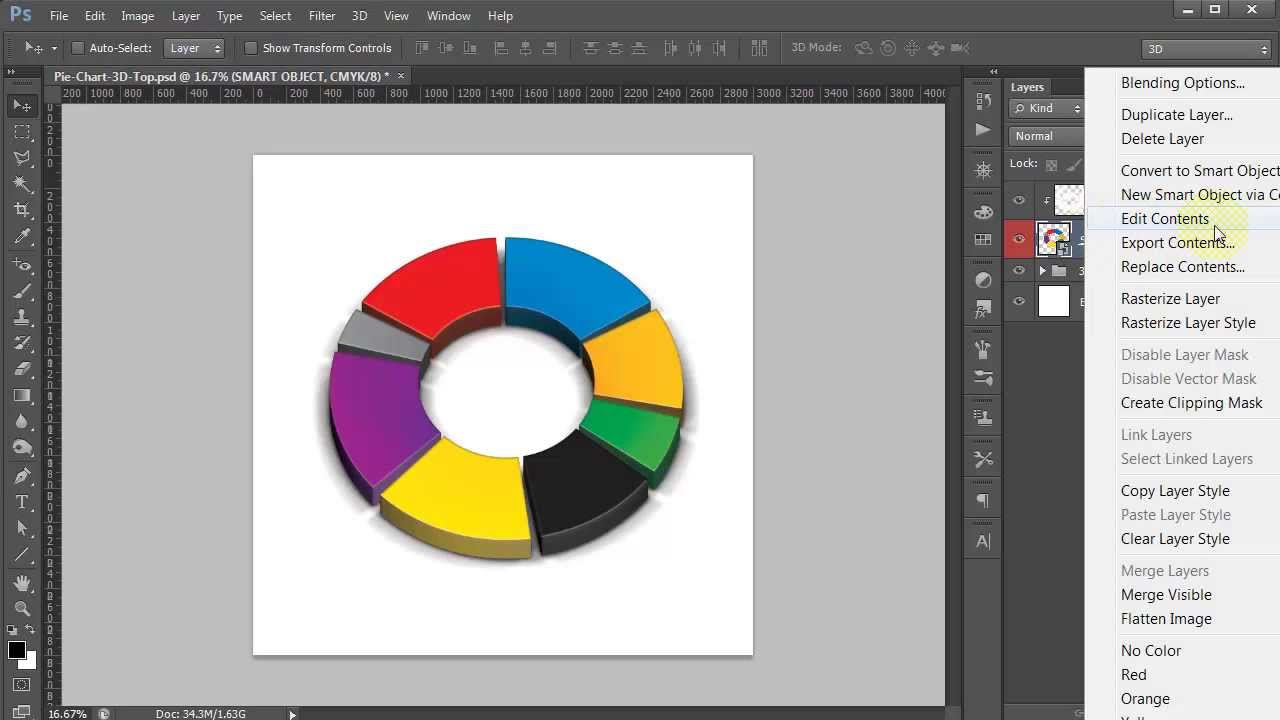 Photoshop 3d Pie Chart Generator Youtube