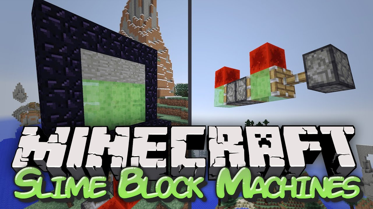 slime block flying machine