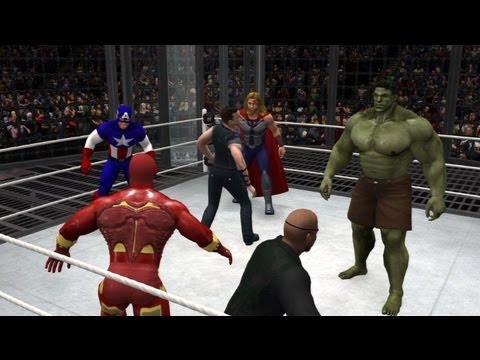 WWE 13 | Iron Man vs Hulk vs Thor vs Cpt America vs Hawkeye vs Nick Fury