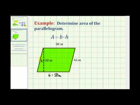 Area of a Parallelogram (Whole Numbers)
