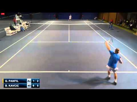 Panfil - Kavcic (Challenger Heilbronn 2014 Highlights Second Set)