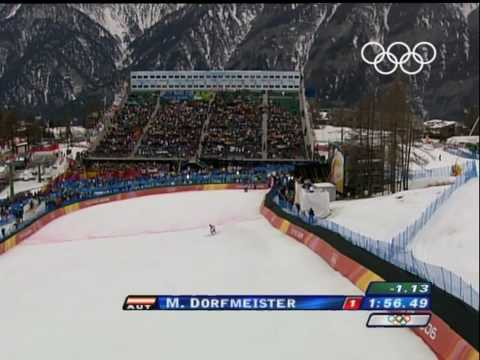 Dorfmeister - Alpine Skiing - Women's Downhill - Turin 2006 Olympic Games