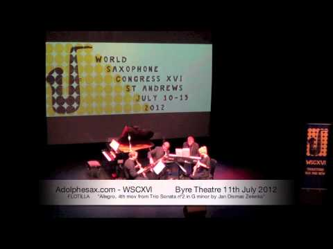 WSCXVI FLOTILLA   Allegro, 4th mov from Trio Sonata nº2 in G minor by Jan Dismas Zelenka