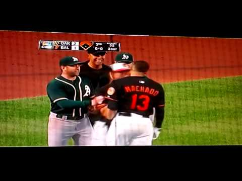 Machado's bench/bullpen clearing tantrum vs A's.