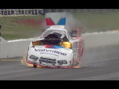Jack Beckman Engine Explodes @ 2014 NHRA Atlanta