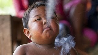 2 Yr Old Toddler Smokes 40 Cigarettes A Day - SHOCKING
