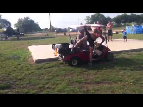 High Jump Over A Golf Cart